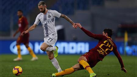 Inter Milan bertandang ke markas AS Roma di pekan ke-34 Serie A Italia, Senin (20/07/20) dinihari. Berikut ini 5 gol terbaik Nerazzurri saat dijamu Giallorossi. - INDOSPORT