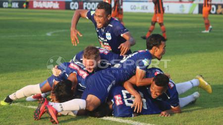 Selebrasi para pemain PSIS Semarang. - INDOSPORT