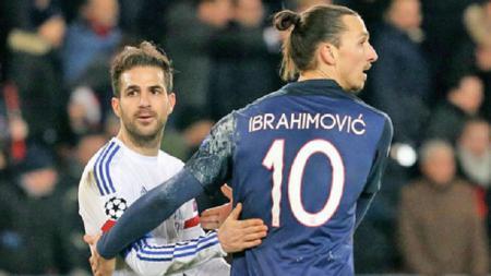 Fabregas dan Ibrahimovic menjadi bidikan AC Milan - INDOSPORT
