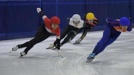 Ajang internasional bertajuk Asian Open Short Track Speed Ice Skating Trophy 2018 resmi digelar di Indonesia. - INDOSPORT