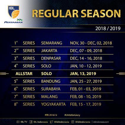 Jadwal lengkap Seri IBL 2018/19 Copyright: IBL