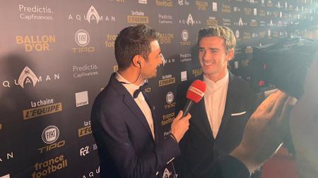 Antoine Griezmann saat di red carpet Ballon d'Or. - INDOSPORT