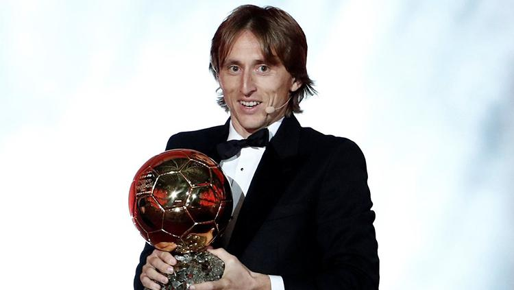 Modric memenangkan Ballon dor. Copyright: Getty Images
