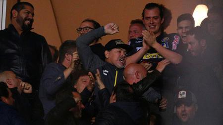 Diego Maradona, legenda Timnas Argentina yang kini menjadi pelatih Dorados. - INDOSPORT