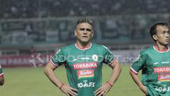 Indosport - Cristian Gonzales saat berseragam PSS Sleman di Liga 2 2018.