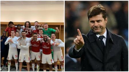 Mauricio Pochettino tidak suka melihat Arsenal pamer foto di media sosial. - INDOSPORT