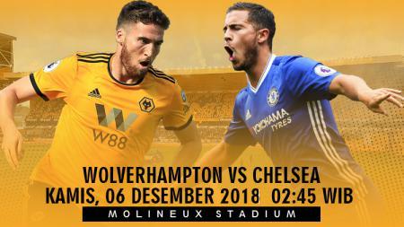 Prediksi Pertandingan Liga Primer Inggris 2018 Wolverhampton Wanderers vs Chelsea. - INDOSPORT