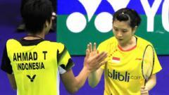 Indosport - Tontowi Ahmad akan berpasangan dengan Debby Susanto di Malaysia Masters 2019