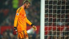 Indosport - David de Gea dipastikan absen membela Manchester United melawan Liverpool dalam lanjutan pekan ke-9 Liga Inggris 2019-2020, Minggu (20/10/19) akhir pekan ini.
