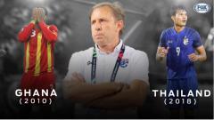 Indosport - Milovan Rajevac alami deja vu atas kekalahan Thailand di Piala AFF dengan kegagalan Ghana di Piala Dunia.