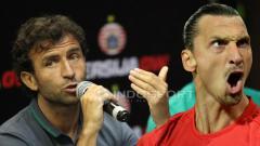 Indosport - Ilustrasi Luis Milla dan Zlatan Ibrahimovic