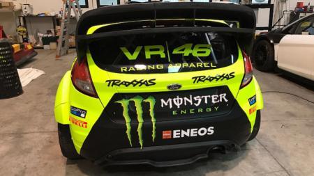 Mobil balap milik Valentino Rossi dengan desain baru untuk ajang Monza Rally Show 2018 - INDOSPORT
