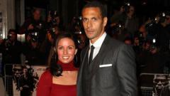 Indosport - Rio Ferdinand dan Rebecca Elisson pada tahun 2009.