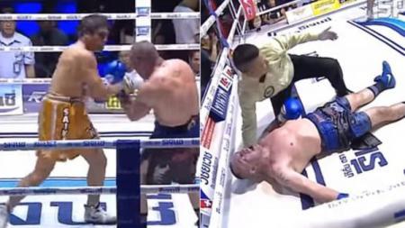 Seorang petinju asal Italia, Christian Daghio meninggal dunia usai satu minggu setelah KO (Knock Out) dari lawannya, Don Pareuang. - INDOSPORT