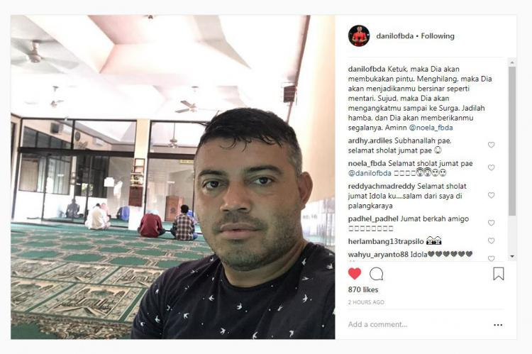 Pasca bawa PSS juara, Danilo Fernando unggah pesan berkelas di masjid Copyright: Instagram