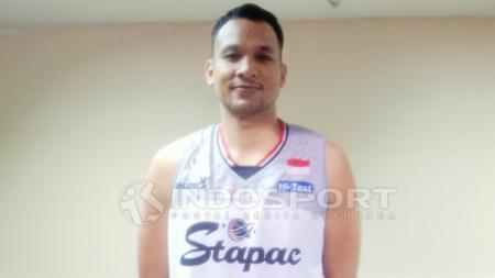 Kaleb Ramot Gemilang akhirnya memberi kabar terkait keadaan klubnya, Stapac Jakarta. - INDOSPORT