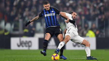 Nasibnya tak jelas di Inter Milan, Mauro Icardi kabarnya diminati Boca Juniors yang baru saja mendatangkan Daniele De Rossi. - INDOSPORT
