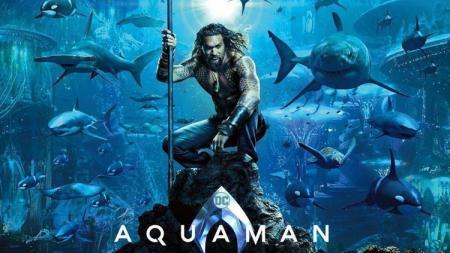 Film Aquaman yang diperankan oleh Jason Momoa cukup banyak menjalani sejumlah bidang olahraga. - INDOSPORT