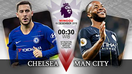 Pertandingan Chelsea vs Manchester City. - INDOSPORT