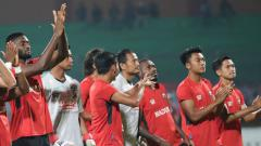 Indosport - Madura United sebelum laga lawan Persela Lamongan.
