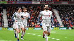 Indosport - Mohamed Salah mampu menciptakan hattrick untuk Liverpool ke gawang Bournemouth, Sabtu (08/12/18).