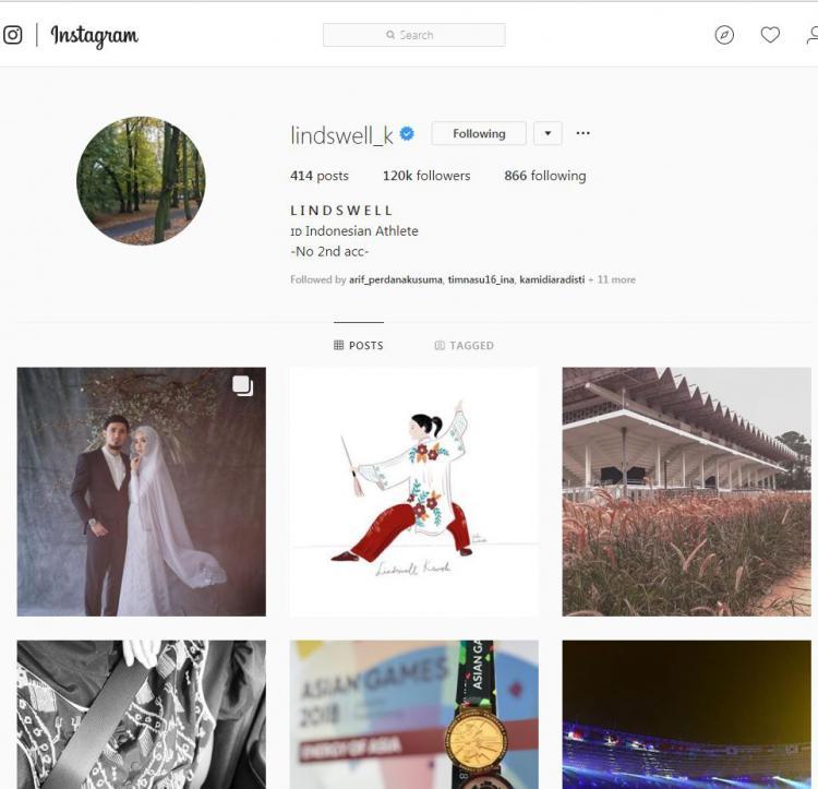 Akun Instagram Lindswell Kwok. Copyright: Instagram.com/lindswell_kk