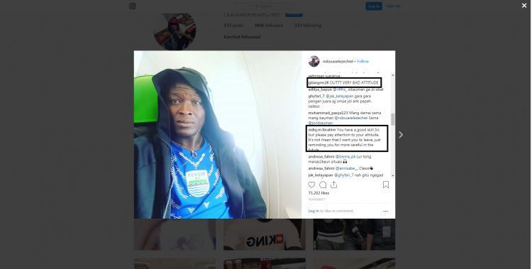 Laman Media Sosial Nduasel Ramai diserbu Netizen Copyright: Instagram