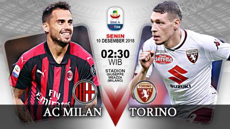 Prediksi Pertandingan Liga Seri-A Italia 2018 AC Milan vs Torino. - INDOSPORT