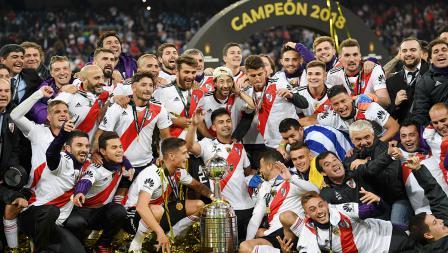 Keseruan River Plate merayakan kemangan Copa Libertadores