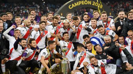 Berikut starting XI eks River Plate yang berkarier dan mampu bersinar serta meraup sukses di Eropa. - INDOSPORT