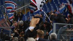 Indosport - Riccardo Saponara merayakan selebrasinya.