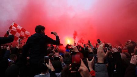 Ilustrasi suporter Liverpool. - INDOSPORT