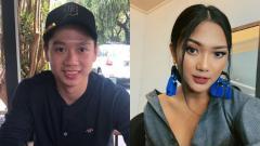 Indosport - Kevin Sanjaya dan Marion Jola.