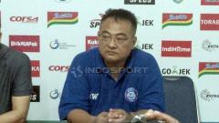 Indosport - General Manager Arema FC, Ruddy Widodo, dalam jumpa pers Liga 1.