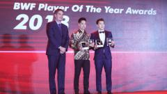 Indosport - Kevin/Marcus sabet penghargaan Male Player of The Year 2018.