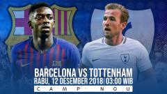 Indosport - Prediksi pertandingan Barcelona vs Tottenham Hotspur
