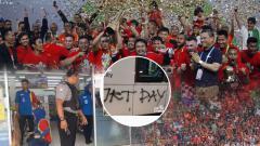 Indosport - Tiga aksi memalukan The Jakmania usai Persija juara Liga 1