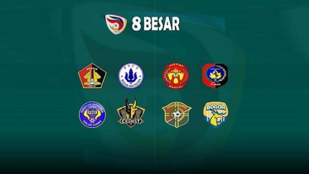 8 besar liga 3 - INDOSPORT