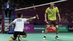 Indosport - Anthony Ginting saat hadapi Chou Tien Chen.