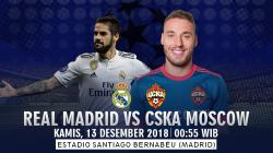 Prediksi Real Madrid Vs CSKA Moscow
