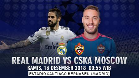 Prediksi Real Madrid Vs CSKA Moscow - INDOSPORT