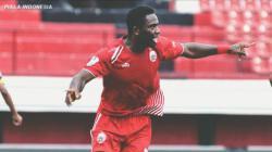 Osas Saha usai mencetak gol ke gawang Bogor FC di Piala Indonesia, rabu (12/12/18).