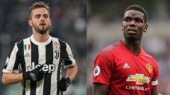 Indosport - Miralem Pjanic dan Paul Pogba
