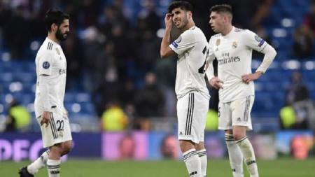 Pemain Real Madrid kecewa usai dikalahkan Moscow - INDOSPORT