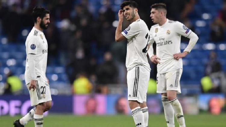 Pemain Real Madrid kecewa usai dikalahkan Moscow Copyright: Bola.com