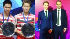 Indosport - Ganda putra Denmark, Kim Astrup/Anders Skaarup RasmussenxMinions