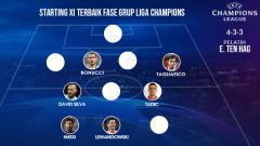 Indosport - Starting XI terbaik fase grup Liga Champions