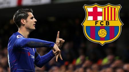 Striker Chelsea, Alvaro Morata dikabarkan tertarik untuk pindah ke Barcelona. - INDOSPORT
