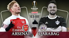 Indosport - Pertandingan Arsenal vs Qarabag.
