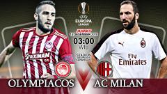 Indosport - Pertandingan Olympiacos vs AC Milan.